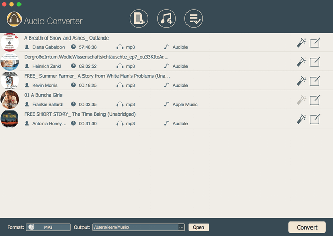 Convert any DRM audiobook to MP3 AAC WAV M4A M4B FLAC at 30x faster speed. latest Screen Shot