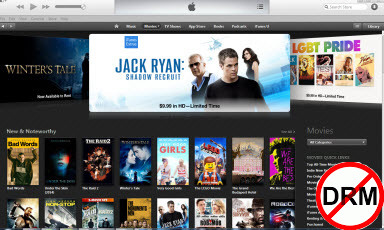 remove drm from itunes rental and purchased videos