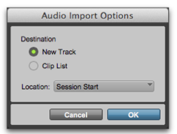 add audio to pro tools