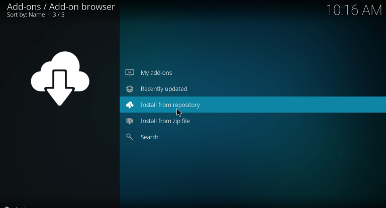add spotify to kodi 3