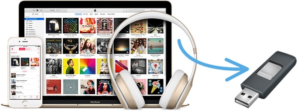 save apple music to usb