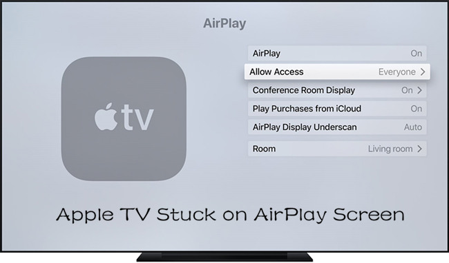 apple tv stuck on airplay screen