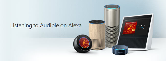 listening to audible on alexa