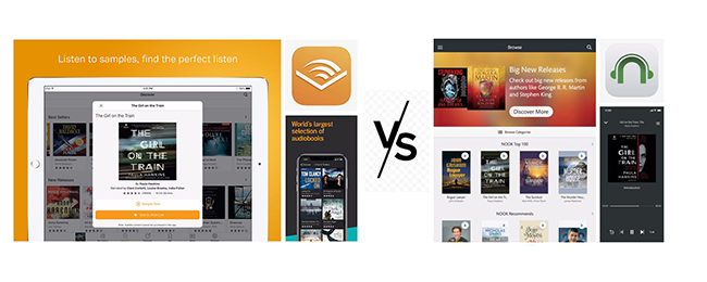 audible vs nook