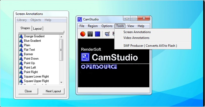 camstudio interface