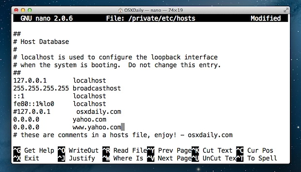 check host files for mac users