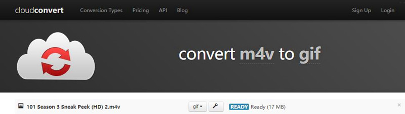 convert m4v to gif with cloudconvert