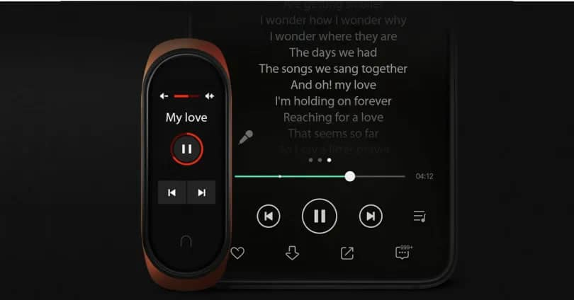 control music on mi band 4