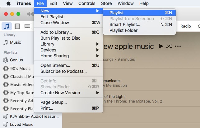 itunes how to add songs to playlist