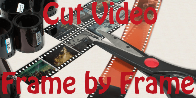 cut video frame by frame