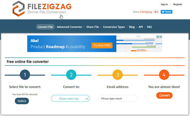 filezigzag free video converter