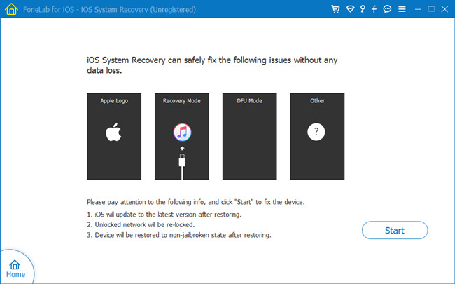 fonelab ios system recovery