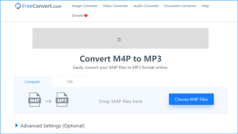 convert m4p to mp3 online with freeconvert