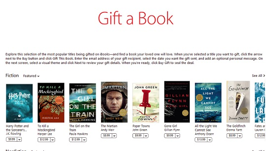 gift ibooks on itunes