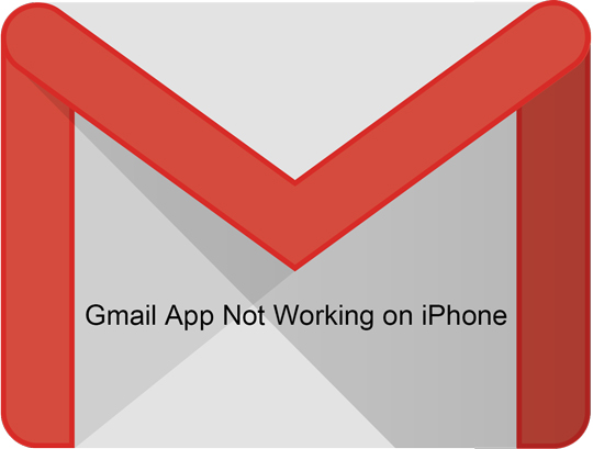 gmail app not working on iphone