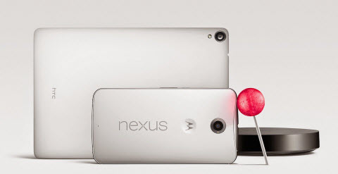 google android lollipop, nexus player and nexus 9