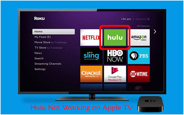 hulu not working on apple tv