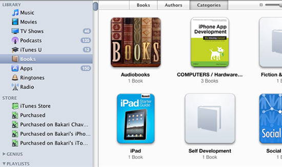import ibooks pdfs to other devices