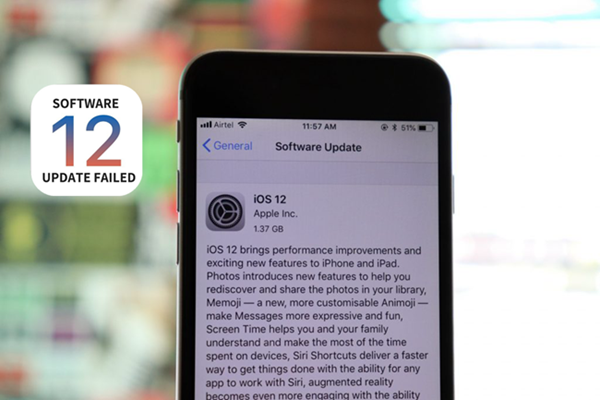 ios 12 update failure