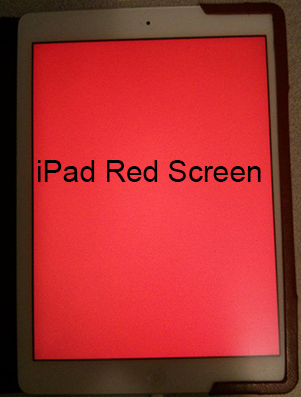 ipad red screen