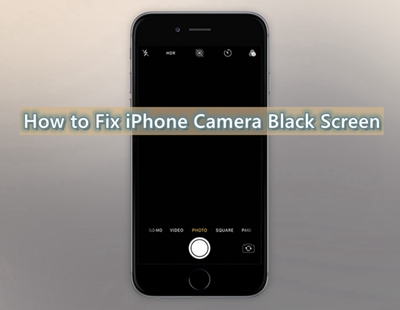 iphone camera black screen