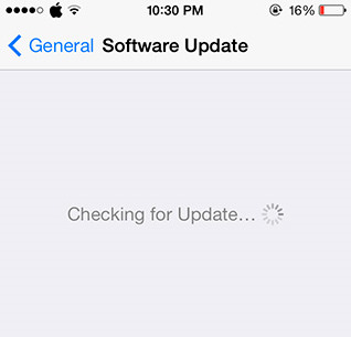 iPhone checking for update