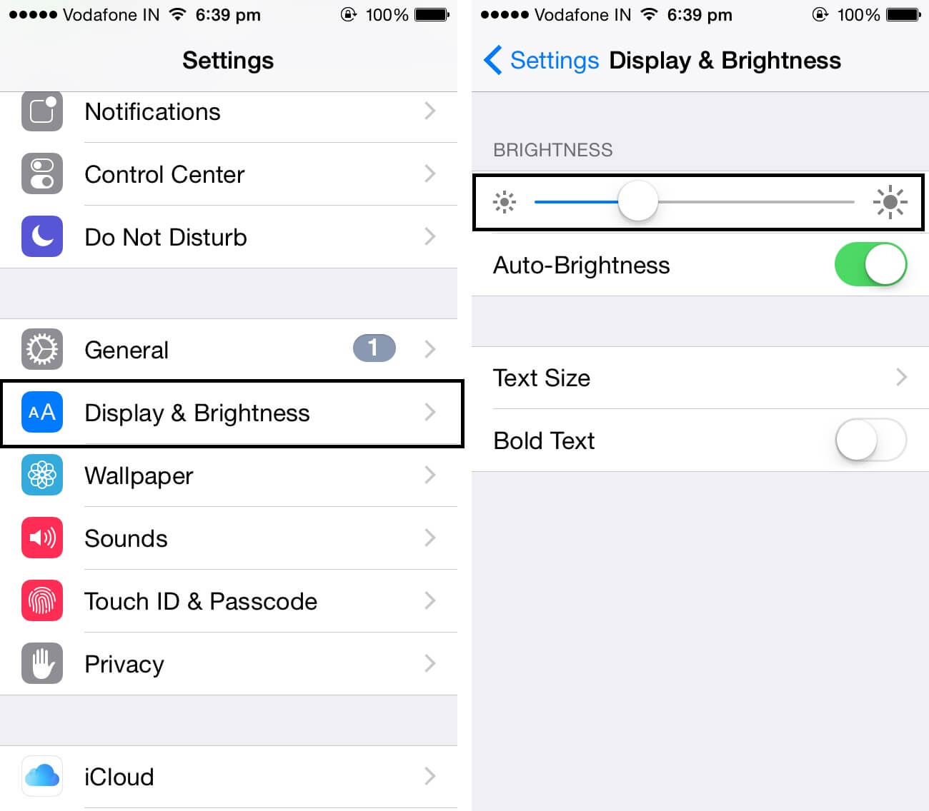 iphone display brightness