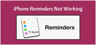Reminders not working on iphone