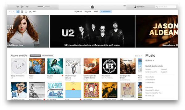 new flattened design of itunes 12