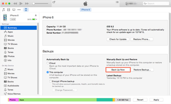 itunes backup iphone in recovery mode
