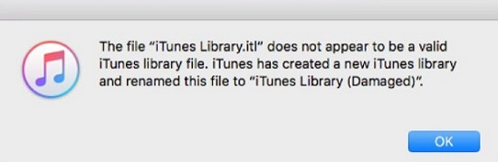 itunes library error