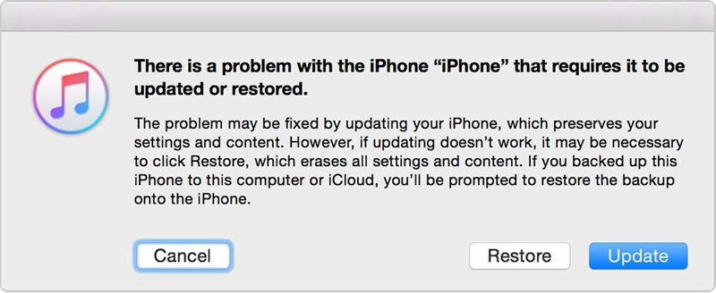 Using iTunes to restore iPhone X
