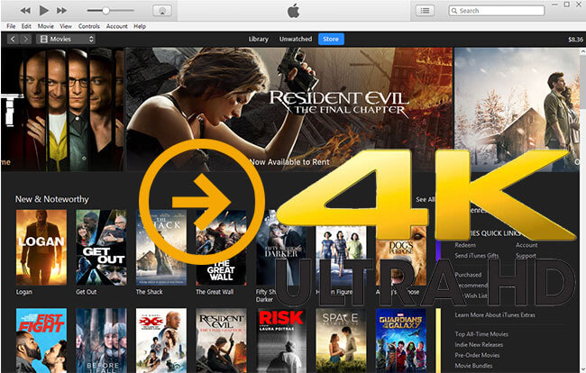 convert iTunes video to 4K