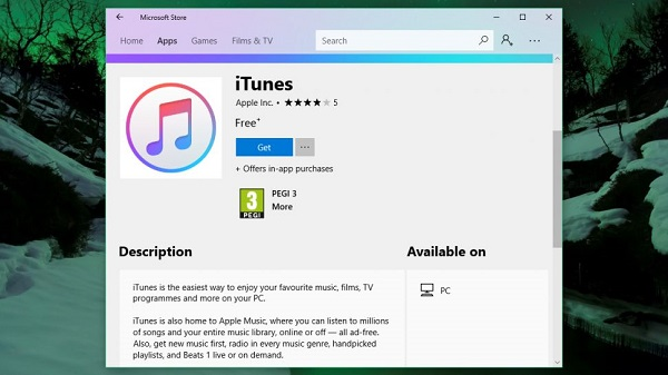 Apple Released iTunes for Windows 10 on Microsoft Store
