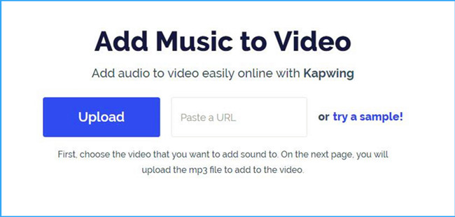 add music to video with kapwing