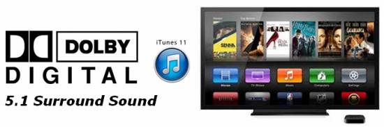 keep 5.1 surround sound of itunes movies