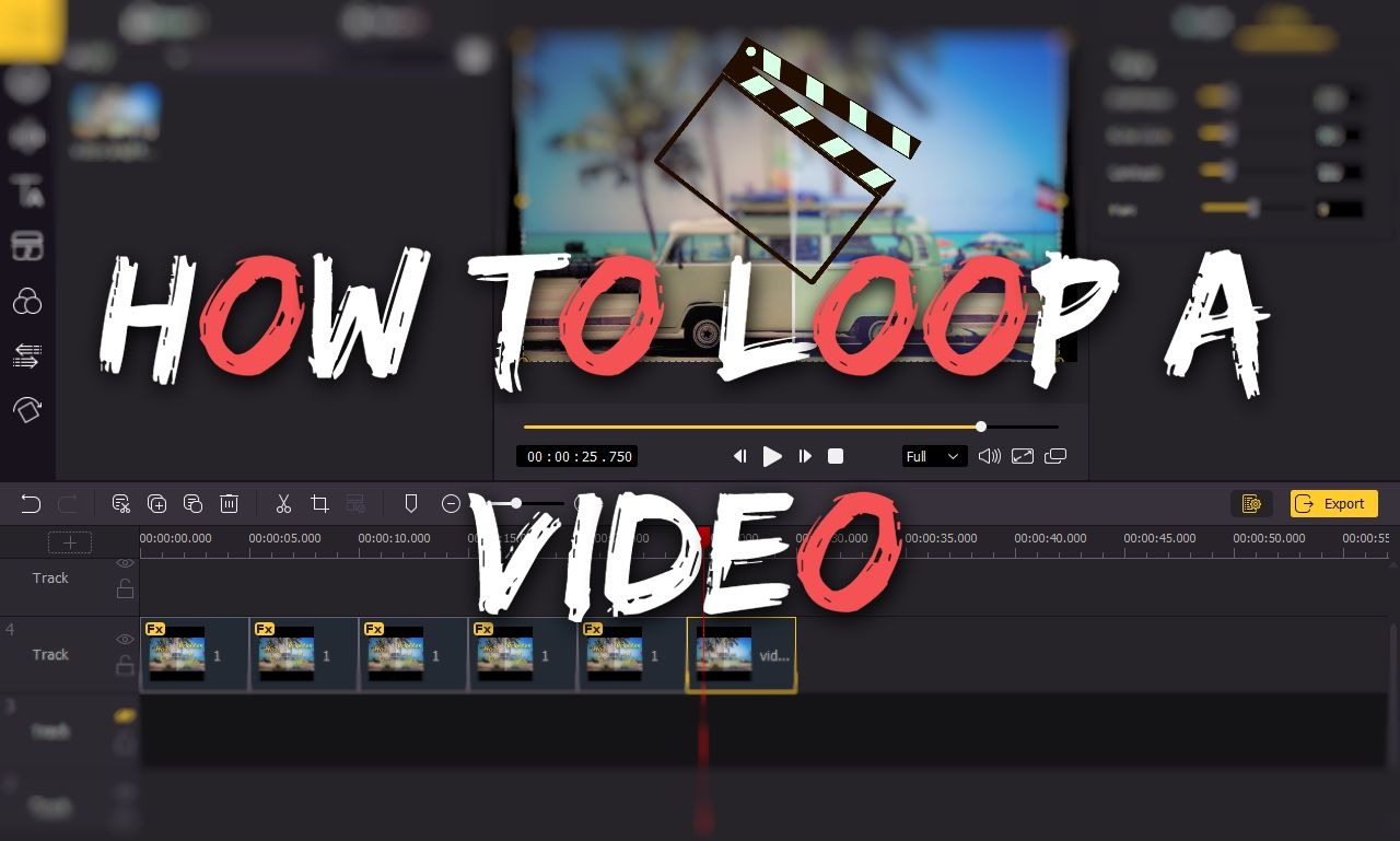 how to loop a video