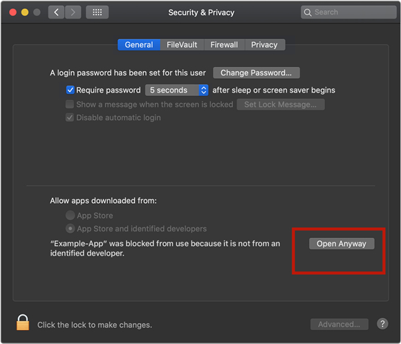 macos system preference security 2