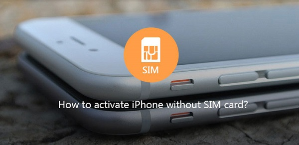 how to set up an iphone without a sim