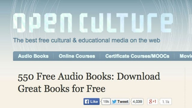 open culture free audiobook