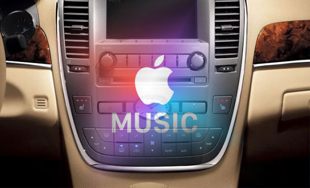 play apple music in a car