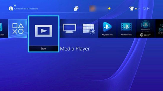 play spotify music on ps4