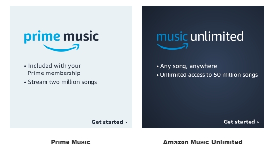 prime music vs music unlimited