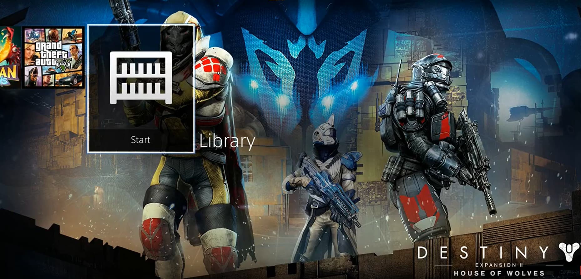 ps4 library