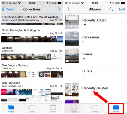 recover recently deleted photos from iphone