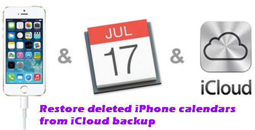 recover calendars from icloud