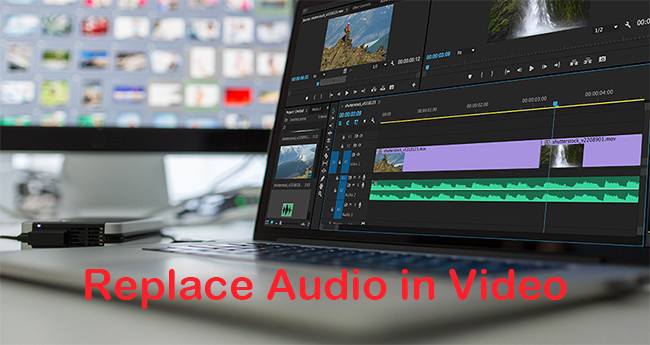 how to replace audio in video