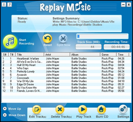 replay music spotify recorder