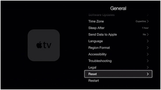 restore apple tv