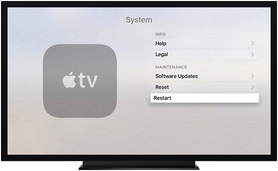 restart apple tv